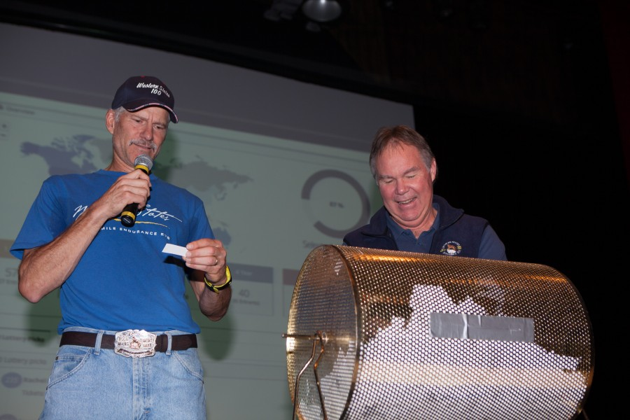 Tim Twietmeyer, Master of Ceremonies, with Devil's Thumb AS Captain Denis ZIlaff